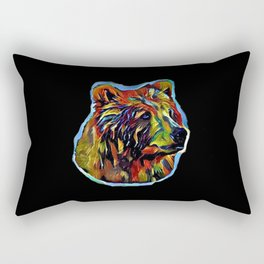 Kaleidoscope Bear  Rectangular Pillow