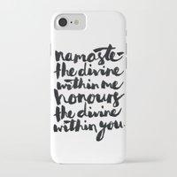 namaste iPhone & iPod Cases featuring Namaste  by Alisha Brunton