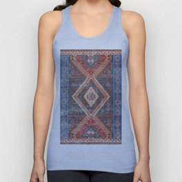 (N16) Boho Moroccan Oriental Artwork for Rustic and Farmhouse Styles. Unisex Tank Top