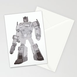 Optimus Black and White Stationery Cards