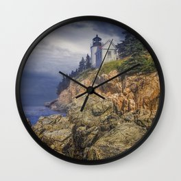 Bass Harbor HeadLight in Acadia National Park in Main Wall Clock