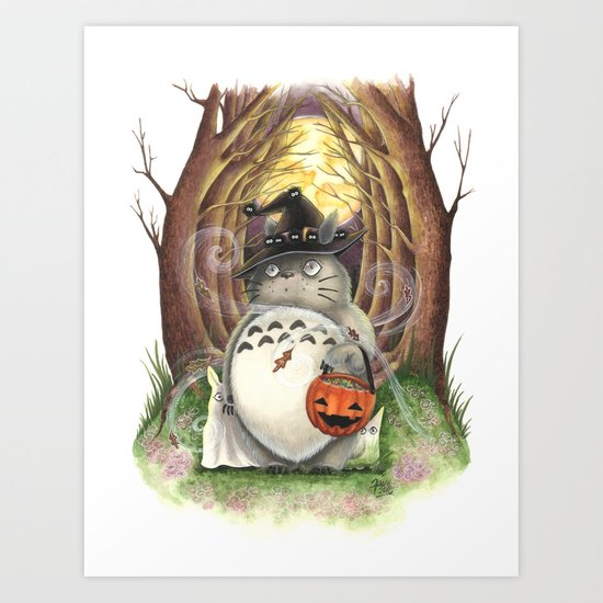 Trick or Treat Halloween Art Art Print