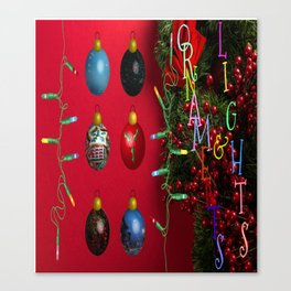 Ornaments and Lights Canvas Print