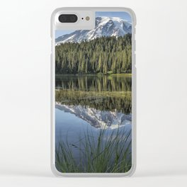 Reflecting a Mountain Clear iPhone Case