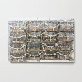 Lobster Traps Metal Print