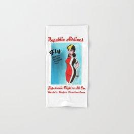 Barbara of Republic Airlines Hand & Bath Towel