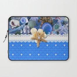 Healing Blue Seashells Sea Life Laptop Sleeve