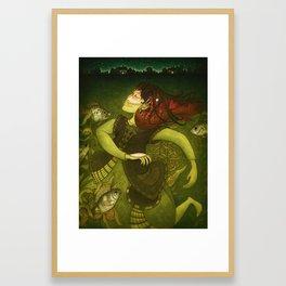 Deep-sea fish Framed Art Print