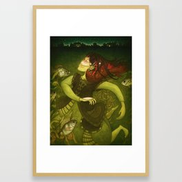 Deep-sea fish Framed Art Print