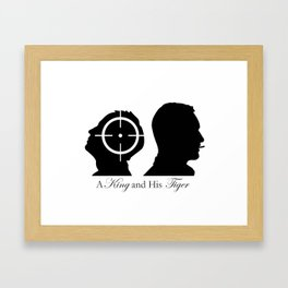 A King and His Tiger Framed Art Print