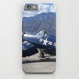 Vintage Historical World War 2 Navy Airplane iPhone Case