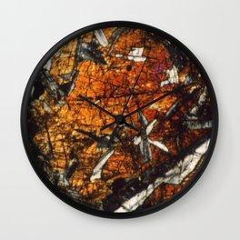 Pyroxene Crystals Wall Clock
