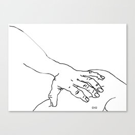 Those touching Canvas Print