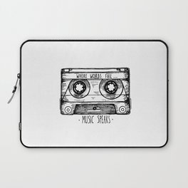 Where Words Fail, Music Speaks Laptop Sleeve
