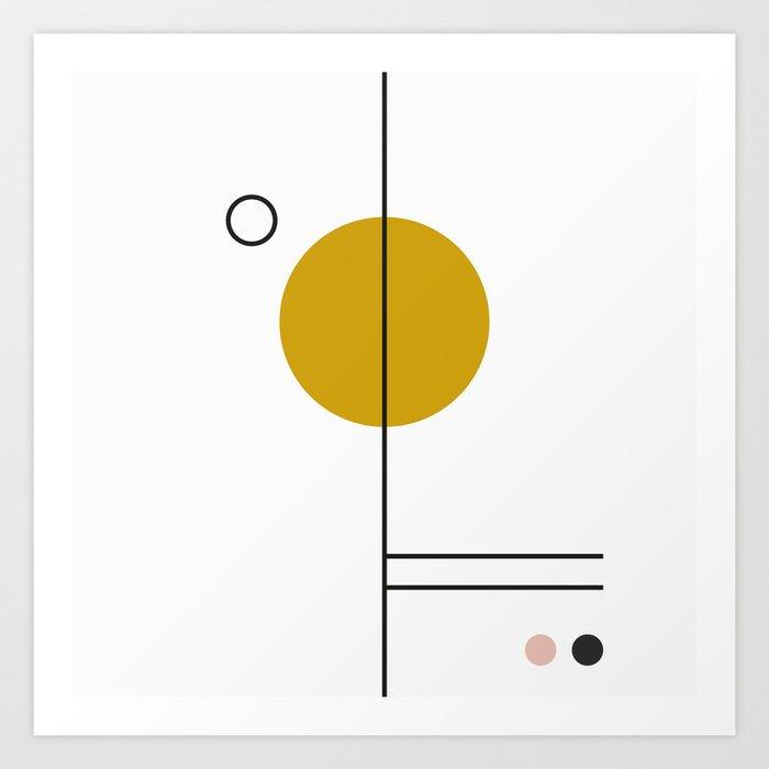 SPACCE 03// GEOMETRIC PASTEL MINIMALIST ILLUSTRATION Art Print