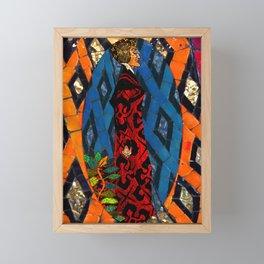 Lady Villain Mosaic Tile Abstract Framed Mini Art Print