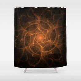 MANDALA.FIRESTORM Shower Curtain