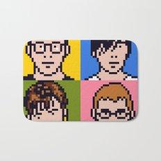 Blur Minimal Pixel Album Cover Bath Mat