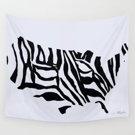 UNITED STATES  ZEBRA MAP SO FABULOUS Wall Tapestry