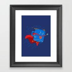 Super Coffee (Navy) Framed Art Print