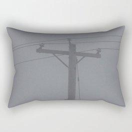 Telephone Pole in the Fog Rectangular Pillow