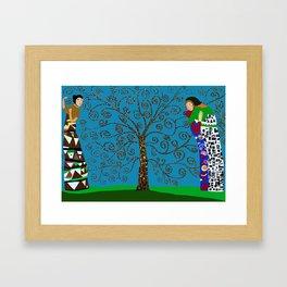 Klimt Style Tree of Life Framed Art Print