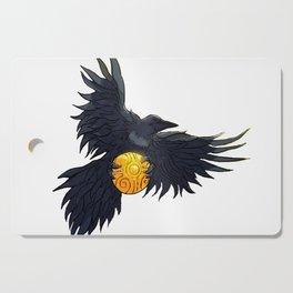 Crow Grabbing Sphere Cutting Board