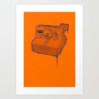 polaroid Art Prints featuring polaroid by TMSYO