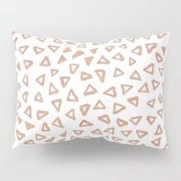 Rosey Gold Triangles Pillow Sham