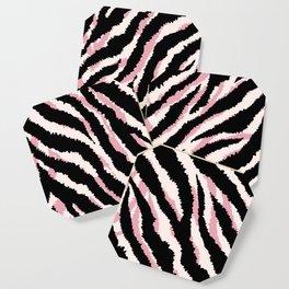 Zebra fur texture print Coaster