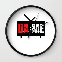 Portland Dame Time Wall Clock
