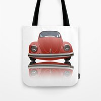 vw Tote Bags featuring VW Beetle by Nove Studio
