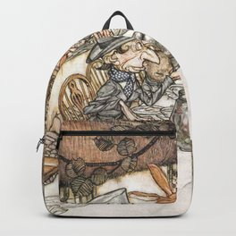 Arthur Rackham The Mad Tea Party 1907 Mad Hatter Hare Alice Backpack