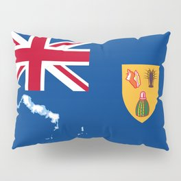 Turks and Caicos Islands TCI Flag with Island Maps Pillow Sham
