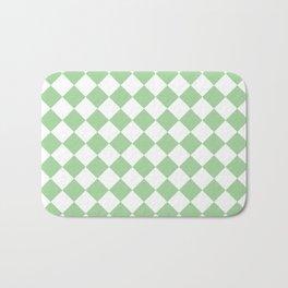 Mint Diamond Pattern Bath Mat