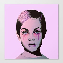 Twiggy's face  Canvas Print