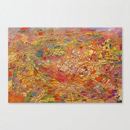 Gold light interlacing straw Canvas Print