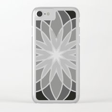 Shades of Grey | Geometric Pattern Clear iPhone Case