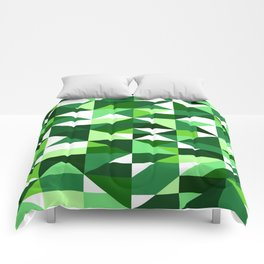 Green Machine / Pattern #8 Comforters