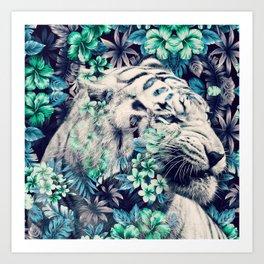 Floral Tiger Art Print
