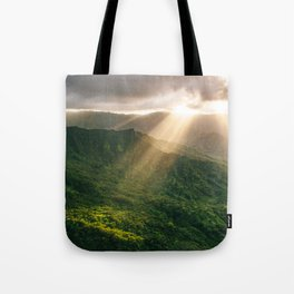 Oahu Afternoon Sunset Rays Tote Bag