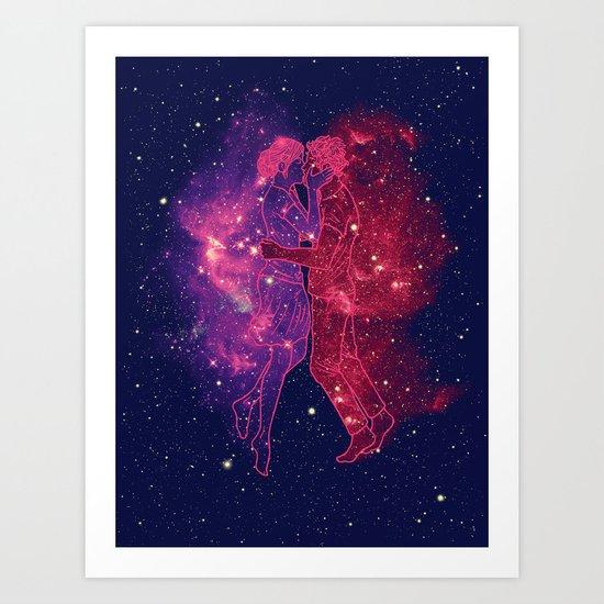 Universes Collide Art Print
