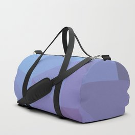 Blue and Purple Geometric Triangle All Over Gradient Pattern Duffle Bag
