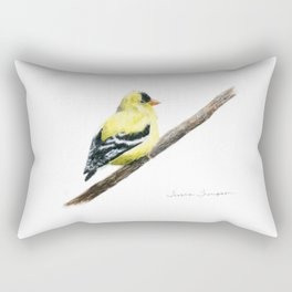 """Little Goldie"" painting by Teresa Thompson Rectangular Pillow"