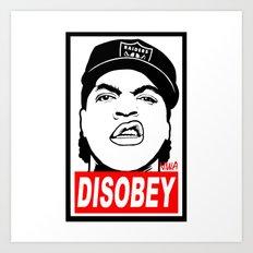 Disobey Cube Art Print