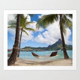 Bora Bora Photography - Tahiti - French Polynesia - Mt Otemanu - Beach - Overwater Bungalow - Fine A Art Print