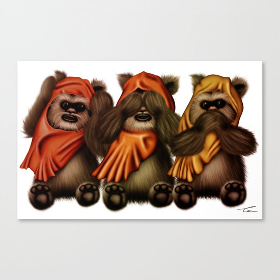 STAR WARS The Three Wise Ewoks Canvas Print