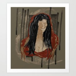 Red Mona Art Print