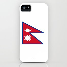 flag of nepal-nepal,buddhism,Nepali, Nepalese,india,asia,Kathmandu,Pokhara,tibet iPhone Case