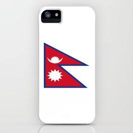 flag of nepal-nepal,buddhism,Nepali, Nepalese,india,asia,Kathmandu,Pokhara,tibet iPhone Case
